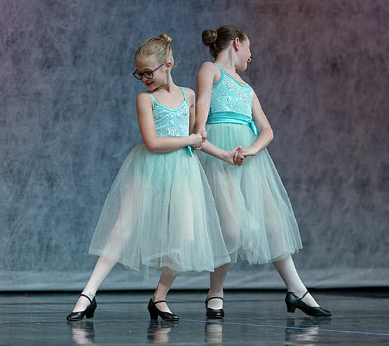 Character I, Lasley Centre for the Performing Arts, Two Young Girls Dancing